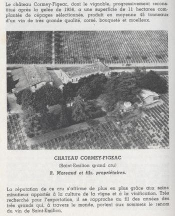 Château Cormey-Figeac dans l'édition du Féret 1969
