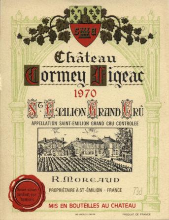 Château Cormeil-Figeac de 1970