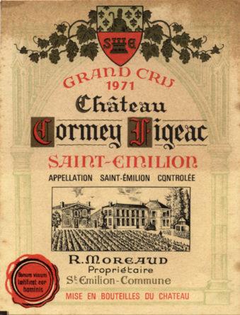 Château Cormeil-Figeac de 1971