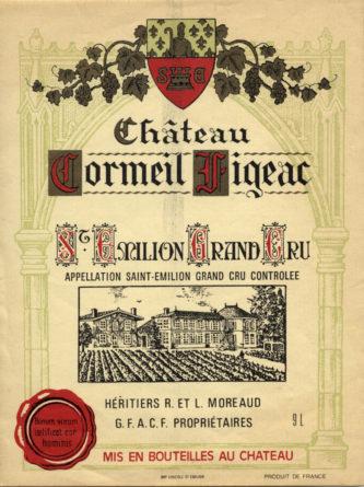 Château Cormeil-Figeac de 1972