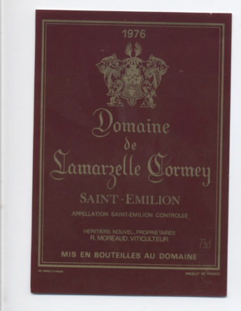 Domaine de Lamarzelle Cormey 1976