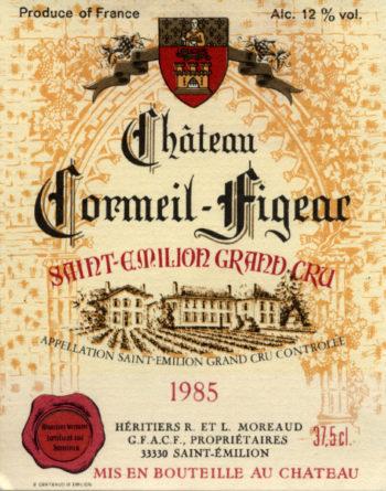 Château Cormeil-Figeac de 1985