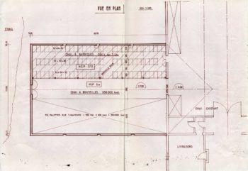 plan de la construction du chai à barriques