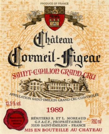 Château Cormeil-Figeac de 1989