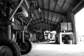 Construction du hangar à tracteur