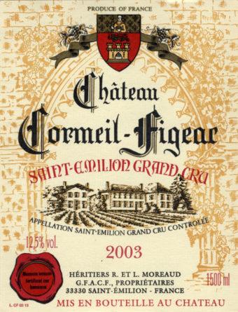 Château Cormeil-Figeac de 2003
